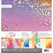 """Paper House Color Washed Double-Sided Paper Pad, 12"""" x 12"""", 48/Pkg (PP0087E)"""