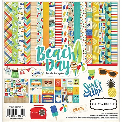 Echo Park Paper Beach Day Carta Bella Collection Kit, 12
