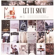 """American Crafts Photo Real Let It Snow Holiday Single-Sided Paper Pad, 12"""" x 12"""", 36/Pkg (341265)"""