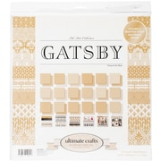 """Artdeco Creations The Ritz Gatsby Ultimate Crafts Double-Sided Paper Pad, 12"""" x 12"""", 24/Pkg (UL157826)"""