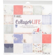 "49 and Market Cottage Life, 9 Des/1 Ea + Bonus Diecut Collection Pack, 12"" x 12"" (CL86554)"