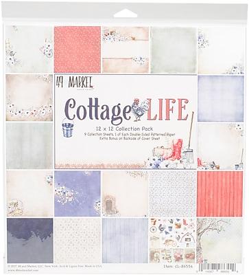 49 and Market Cottage Life, 9 Des/1 Ea + Bonus Diecut Collection Pack, 12