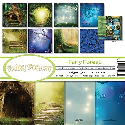 Reminisce Fairy Forest W/Hollow Tree & Butterflies Collection Kit, 12
