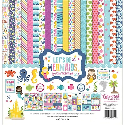 Echo Park Paper Let's Be Mermaids Collection Kit, 12