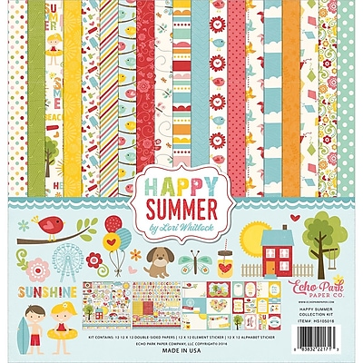 Echo Park Paper Happy Summer Collection Kit, 12