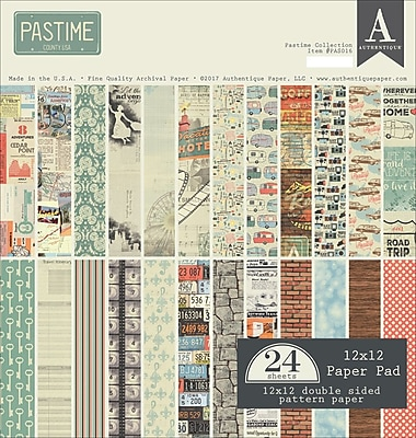 Authentique Paper Pastime, 12 Designs/2 Each Double-Sided Cardstock Pad, 12