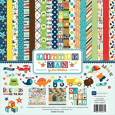 Echo Park Paper Little Man Collection Kit, 12