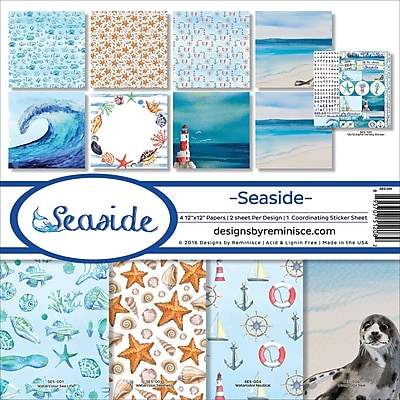 Reminisce Seaside Collection Kit, 12