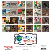 "Echo Park Paper Around The World, 12 Double-Sided Papers Collection Kit, 12"" x 12"" (ATR28016)"