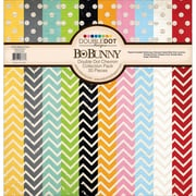 "BoBunny Chevron Double Dot Cardstock Collection Pack, 12"" x 12"", 20/Pkg (CPDOT-16777)"
