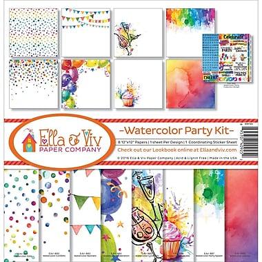 Reminisce Watercolor Party Ella & Viv Collection Kit, 12