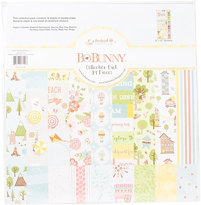 BoBunny Weekend Adventures Collection Pack, 12