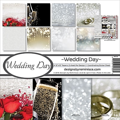 Reminisce Wedding Day Collection Kit, 12