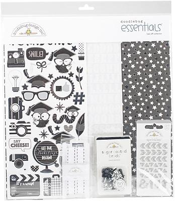 Doodlebug Hats Off Essentials Page Kit, 12