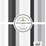 "Doodlebug Hats Off Petite Prints Double-Sided Cardstock, 12"" x 12"", 12/Pk (HAT5672)"