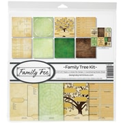 "Reminisce Family Tree, 8 Papers & Stickers Collection Kit, 12"" x 12"" (FAMT200)"