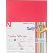 "Neenah Paper 18 Bold & Vivid Colors Creative Collection Cardstock Starter Pack 8.5"" x 11"", 72/Pkg (4640702)"