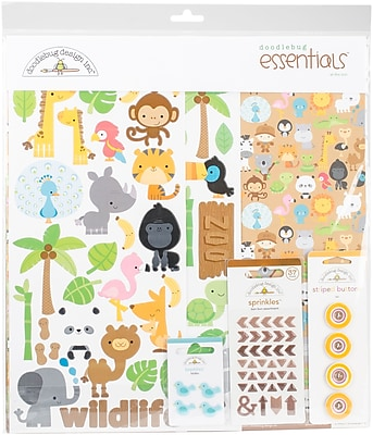 Doodlebug At The Zoo Essentials Page Kit, 12