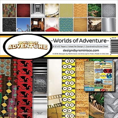 Reminisce Worlds Of Adventure Collection Kit, 12