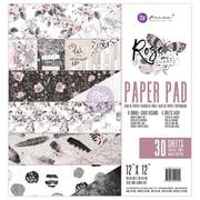 "Prima Marketing Rose Quartz Double-Sided Paper Pad, 12"" x 12"", 30/Pkg (592950)"