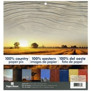 """Paper House 100% Country Double-Sided Paper Pad, 12"""" x 12"""", 24/Pkg (PHP12-0032)"""