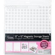 "Artdeco Creations w/Tabs Couture Creations Magnetic Storage Sheets, 12"" x 12"", 4/Pkg (CO723553)"