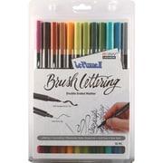 Uchida Natural Le Plume II Double-Ended Brush Lettering Marker Set, 12/Pkg (1122BL12-12L)