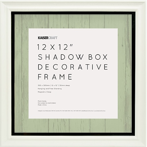 Kaisercraft White Shadow Box Frame, 12\
