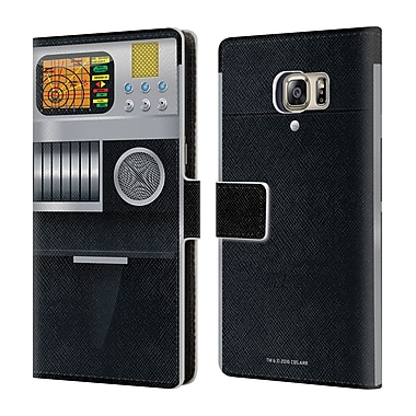 Official Star Trek Gadgets Tricorder Leather Book Wallet Case Cover For Samsung Galaxy S6 Edge+ / Plus
