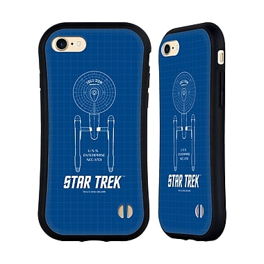 Official Star Trek Ships Of The Line Tos Uss Enterprise Ncc-1701 Hybrid Case For Apple Iphone 7 / 8