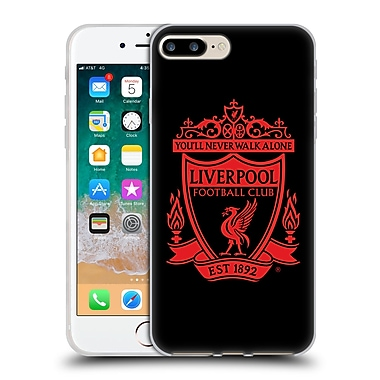 Official Liverpool Football Club Crest 1 Black 2 Soft Gel Case For Apple Iphone 7 Plus / 8 Plus