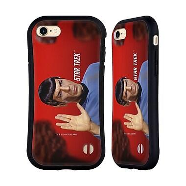 Official Star Trek Spock Vulcan Salute Hybrid Case For Apple Iphone 7 / 8