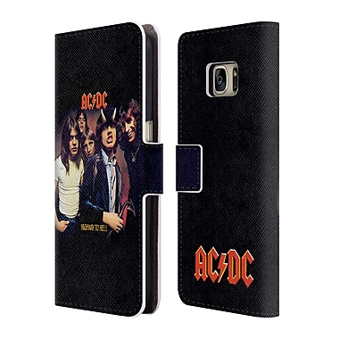 Official AC/DC Acdc Album Cover Highway To Hell Leather Book Wallet Case Cover For Samsung Galaxy S7
