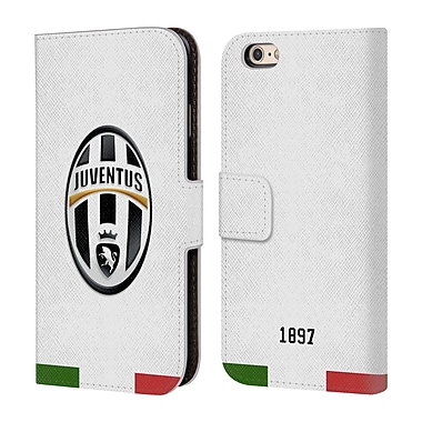 Official Juventus Football Club Crest Italia White Leather Book Wallet Case Cover For Apple Iphone 6 / 6S