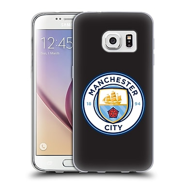 Official Manchester City Man City Fc Badge Black Full Colour Soft Gel Case For Samsung Galaxy S7