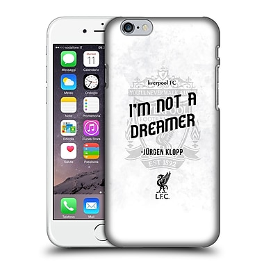 Official Liverpool Football Club Klopp Quotes Not A Dreamer White Hard Back Case For Apple Iphone 6 / 6S