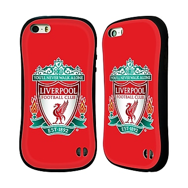 Official Liverpool Football Club Crest 1 Red 1 Hybrid Case For Apple Iphone 5 / 5S / Se