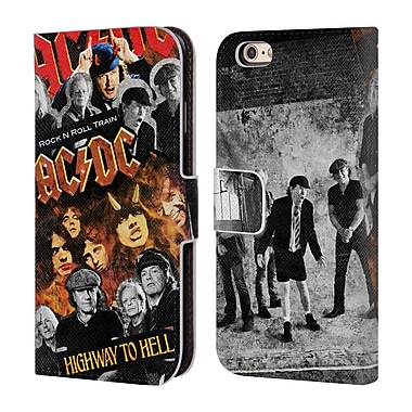 Official AC/DC Acdc Collage Group Leather Book Wallet Case Cover For Apple Iphone 6 / 6S