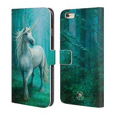 Official Anne Stokes Mythical Creatures Forest Unicorn Leather Book Wallet Case Cover For Apple Iphone 6 Plus / 6S Plus