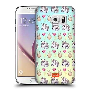 Official Emoji Pastel Unicorns Peace Pattern Hard Back Case For Samsung Galaxy S7