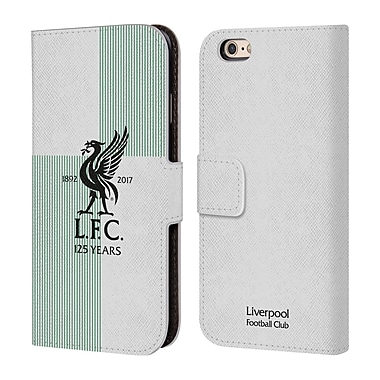 Official Liverpool Football Club Kit 2017/18 Liver Bird Away Shirt Leather Book Wallet Case Cover For Apple Iphone 6 / 6S