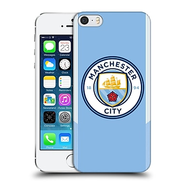 Official Manchester City Man City Fc Badge Kit 2017/18 Home Hard Back Case For Apple Iphone 5 / 5S / Se
