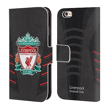 Official Liverpool Football Club Kit 2016/17 Crest Away Shirt Leather Book Wallet Case Cover For Apple Iphone 6 / 6S