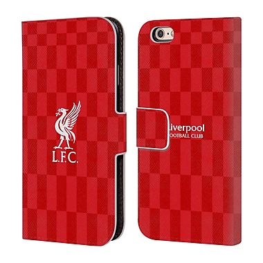 Official Liverpool Football Club Liver Bird White On Red Kit Leather Book Wallet Case Cover For Apple Iphone 6 / 6S