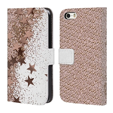 Official Monika Strigel Shaky Stars Rose Leather Book Wallet Case Cover For Apple Iphone 5 / 5S / Se