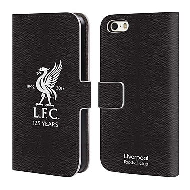 Official Liverpool Football Club Kit 2017/18 Away Goalkeeper Shirt Leather Book Wallet Case Cover For Apple Iphone 5 / 5S / Se