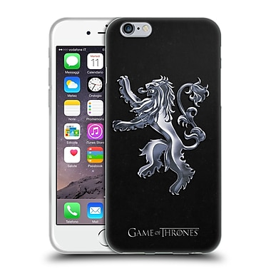 Official HBO Game Of Thrones Sigils Silver Lannister Soft Gel Case For Apple Iphone 6 / 6S
