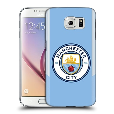 Official Manchester City Man City Fc Badge Kit 2017/18 Home Hard Back Case For Samsung Galaxy S6