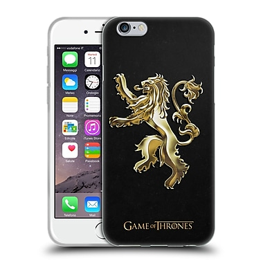 Official HBO Game Of Thrones Sigils Gold Lannister Soft Gel Case For Apple Iphone 6 / 6S