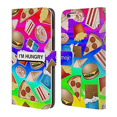 Official Emoji Food Hungry Leather Book Wallet Case Cover For Apple Iphone 6 Plus / 6S Plus